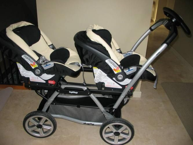 twin strollers with car seats | Peg Perego: Twin Stroller, Car Seats and Bases | Baby stuff
