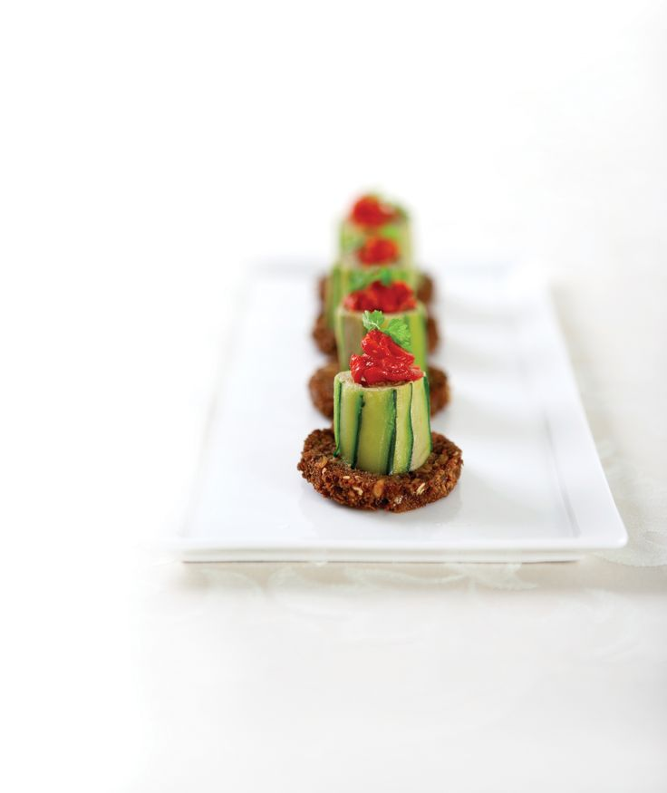 Zucchini Roulade, Dark Rye