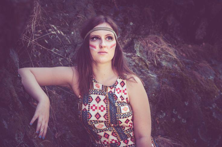 Photograph Beautiful Redskin by Klára Zamouřilová on 500px, indian, girl, dress, colorful, rocks