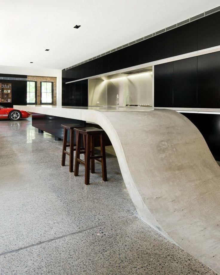 Wir Stellen Ihnen Heute Einige Moderne Designs Für Die Beton Arbeitsplatte  In Der Küche Vor, Die Der Zeitgenössischen Küche Den Letzten Schliff  Verleiht.