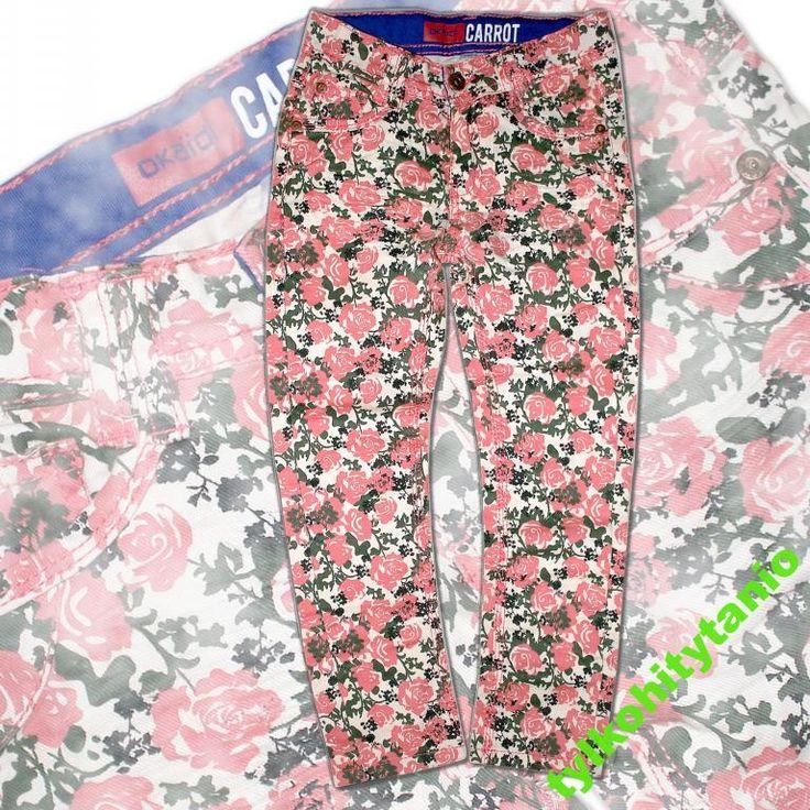 OKAIDI spodnie rurki modne  6 lat NOWE