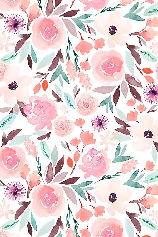 Colorful Fabrics Digitally Printed By Spoonflower Indy Bloom Design Sage C Floral Wallpaper Iphone Floral Wallpaper Painting Wallpaper