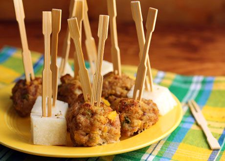 Mango-jalapeño turkey meatballs [ThePerfectPantry.com]