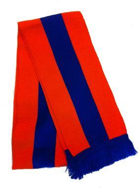 Sjaal Lampegat In de Eindhovense carnavalskleuren oranje blauw € 11,-