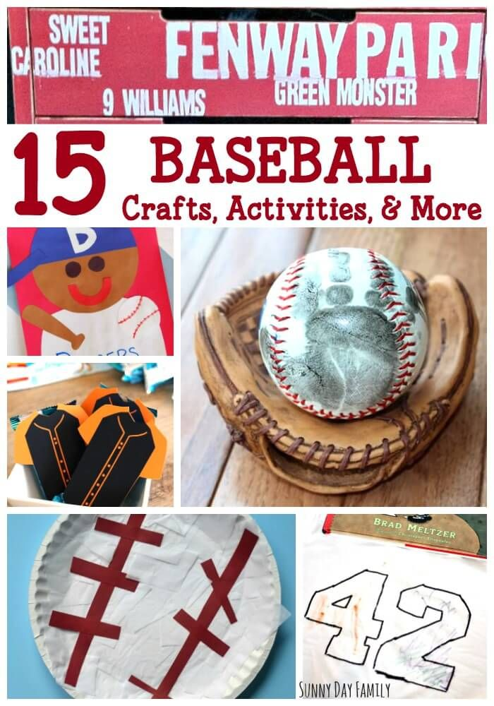 15 Baseball crafts, activities, and more! Baseball fans of all ages will love these baseball crafts, baseball activities for kids, baseball home projects and baseball snacks. So many great baseball ideas in one place!