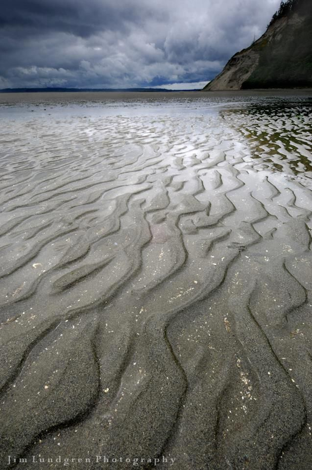 Low tide at Double Bluff Beach, Whidbey Island, Washington