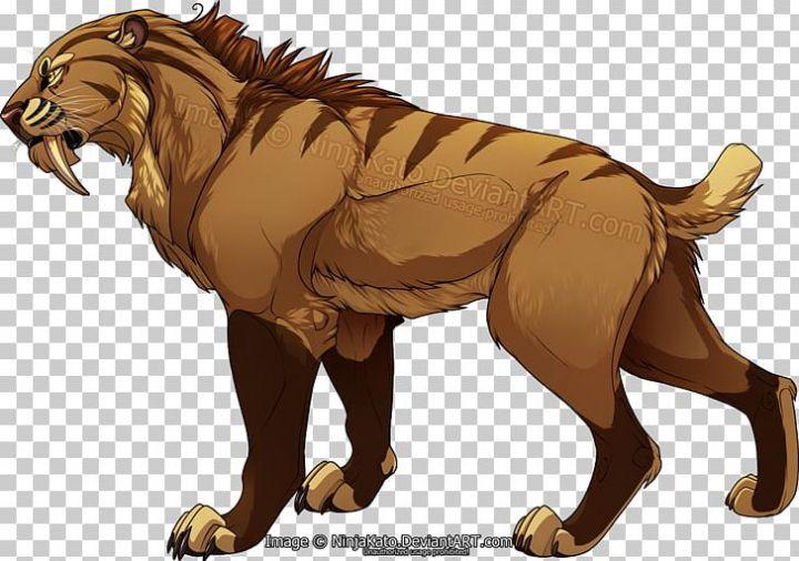 Sabretooth Felidae Tiger Saber Toothed Cat Png Clipart Animal Clip Art Png Felidae