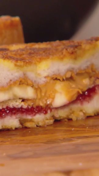 WARNING: Jeff's Crunchy Fried PB and J is highly addictive.