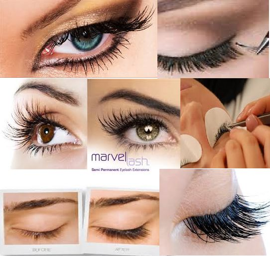 Individual semi-permanent eyelash extentions using marvel lash will leave your lashes looking beautiful.