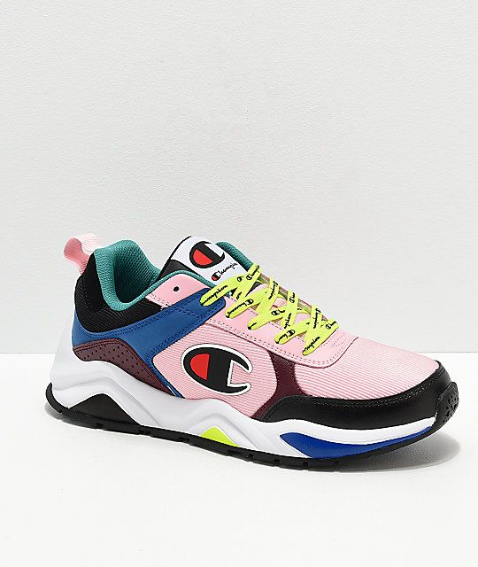 93e27b0404e Champion Men s 93 Eighteen Big C Pink   Multi-Colorblock Shoes in ...