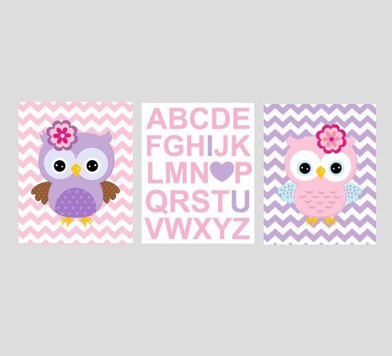 owl+nursery+art+owl+nursery+owl+print++pink+purple+by+KalasKorner,+$27.00