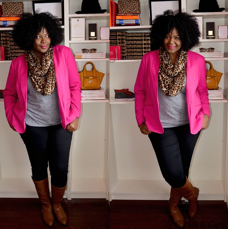 Plus size fashion for women 30 X 30 Outfits Challenge: Week 4 pink Blazer