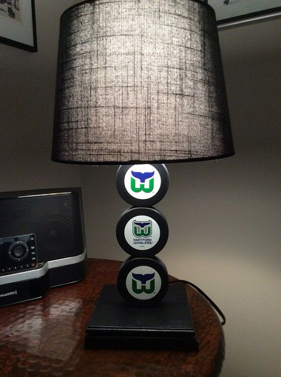 Hartford Whalers Hockey Puck Lamp