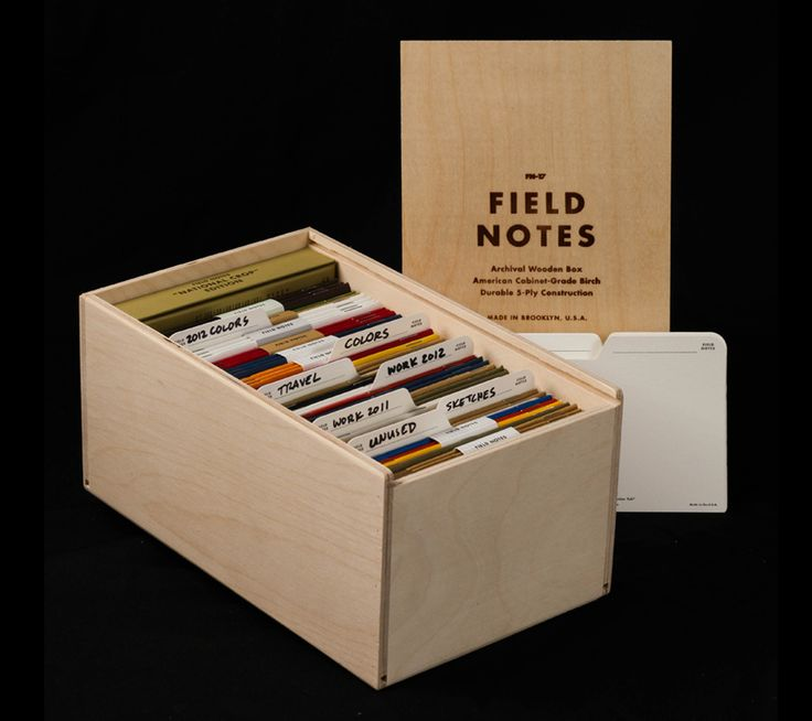 Gorgeous 'Archival' Wooden Case For Field Notes Notebooks