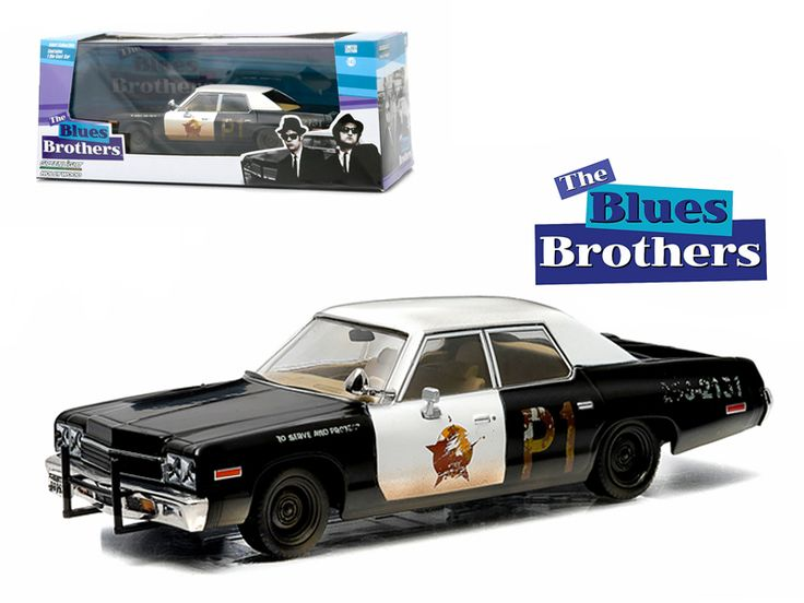 """1974 Dodge Monaco """"Bluesmobile"""" Blues Brothers Movie (1980 ) 1/43 Diecast Model Car by Greenlight - Rubber tires. Brand new box. Limited Edition. Detailed interior, exterior. Comes in plastic display showcase. Dimensions approximately L-5 inches long.-Weight: 1. Height: 5. Width: 9. Box Weight: 1. Box Width: 9. Box Height: 5. Box Depth: 5"""