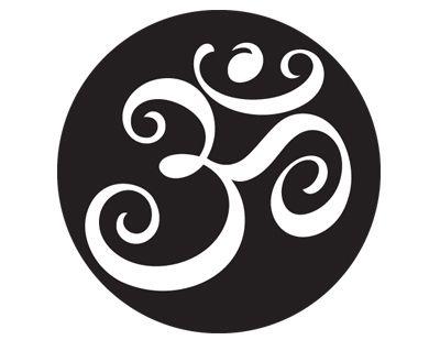 stylized om symbol