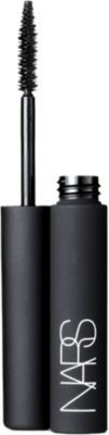 NARS Larger Than Life Lengthening Mascara, Long. Lustrous. Luxuriously Defined. The ultimate achievement in lash length and separation. The high-performance formula and high-tech brush deliver maximum lengthening capabilities and precise lash definition that lasts all day. Nylon fibers cling to lashes for extra length, while macadamia nut oil and Vitamin E help enhance suppleness. Available in Black