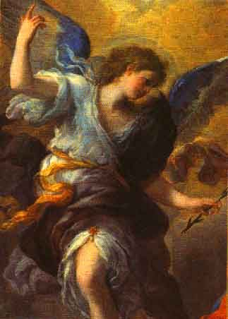 Archangel Gabriel. In Abrahamic religions (Gavri'el), is an angel who typically serves as a messenger to humans from God. In Islam, Gabriel (Jibra'il) is believed to have been the angel who revealed the Qur'an to the prophetin the period of 23 years Muhammad. Gabriel appears to the virgin Mary and to Zechariah, foretelling the births of Jesus and John the Baptist, respectively (Luke 1:11–38).