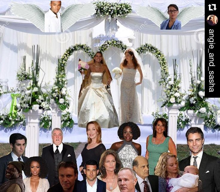 Angie Harmon & Sasha Alexander (With images) | Wedding ...