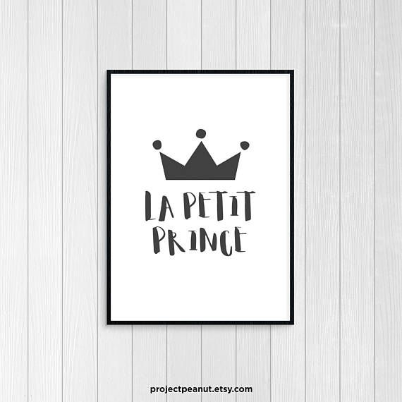 Little Prince - Printable Wall Art - Quote Prints - French Art - Printable Quotes - Monochromatic Art - Baby Boy Nursery - Black and White  PLEASE NOTE:  + You are purchasing a digital file only.  + THIS IS AN INSTANT DOWNLOAD OF FILES.  + NO PRINTED MATERIALS ARE INCLUDED!  + There are NO REFUNDS as this is a digital product.  + A reminder that this is a DIGITAL PRODUCT.  WHAT DO YOU GET? 8x10 inch digital printable artwork The files will be delivered electronically. Within minutes of your…