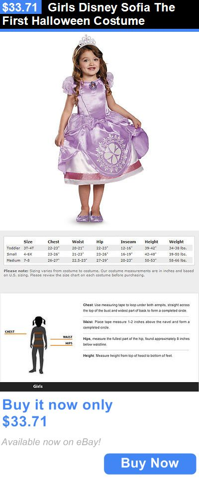Halloween Costumes Kids: Girls Disney Sofia The First Halloween Costume BUY IT NOW ONLY: $33.71