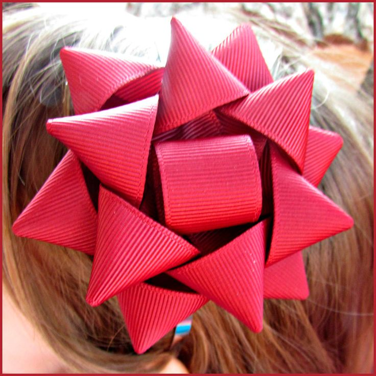 how to make your own hair bow out of ribbon
