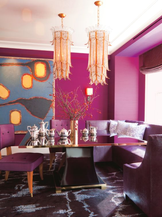17 best ideas about purple dining rooms on pinterest purple dining room paint purple kitchen - Purple dining room ...
