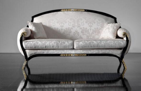 Sofa weiß königlicher Stil Soher Wohnzimmer
