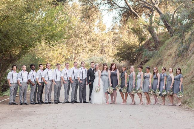 Wow, so many groomsmen and bridesmaids! - Real Wedding: Outdoorsy DIY Wedding