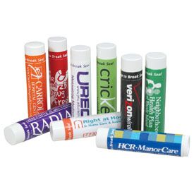 Flavored Lip Balm (Item Number: B335). This is a quality flavored lip balm - SPF 15. PABA Free with aloe vera & Vitamin E. Laminated & smudge proof label. Now thru 12/31/2014, get this lip balm for just .85¢ each (min. qty. 100). Email promo@personalpr.net to order. For more promotional products and marketing ideas, visit www.PersonalPR.net.