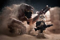 Rancors Sandpit (Avanaut) Tags: toy starwars sand lego rancor stormtrooper…