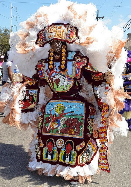 Mardi Gras Indians on Super Sunday 2011