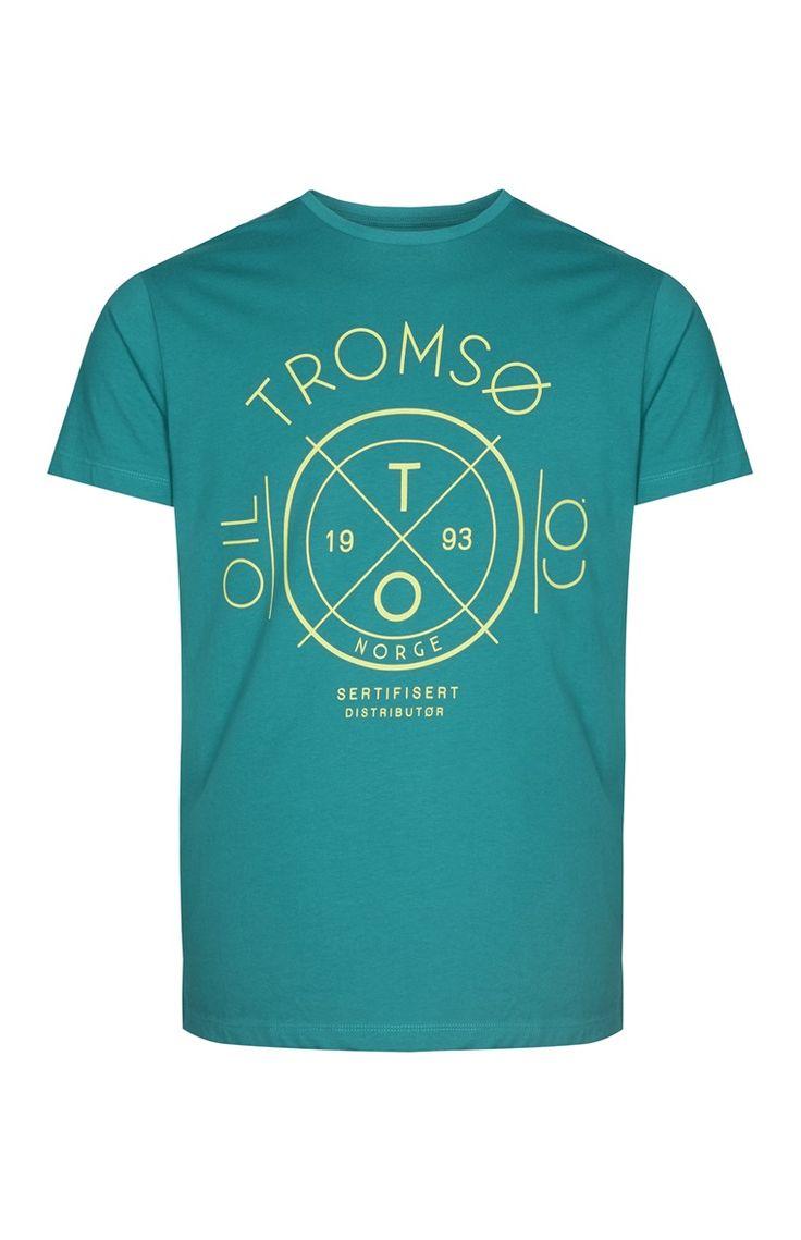 Primark - Green Tromso Print T-Shirt