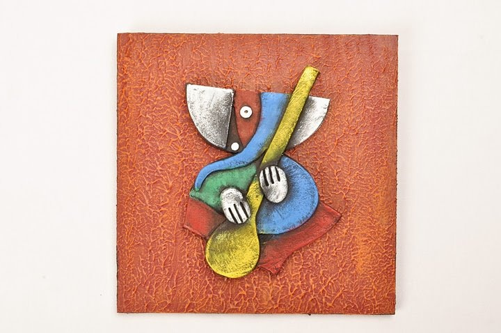 Lord Ganesha with Sitar, abstract