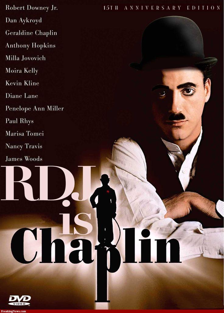 Robert Downey Jr as Charlie Chaplin, released 1993
