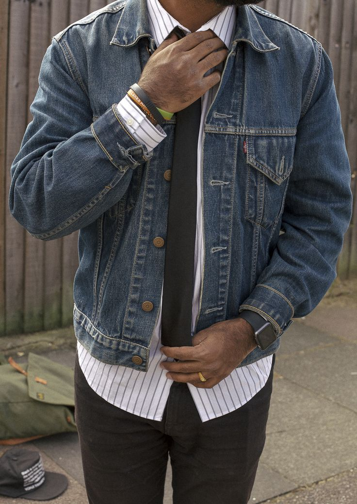 17 Best images about Men denim jacket on Pinterest
