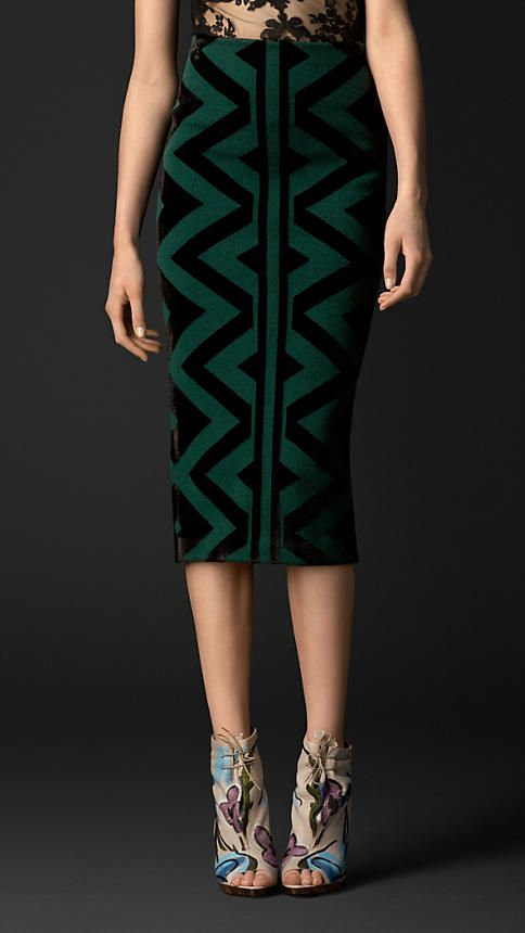 Burberry Prorsum Knitted Blanket Pencil Skirt #thisfall #getitgirl #howimfeelin