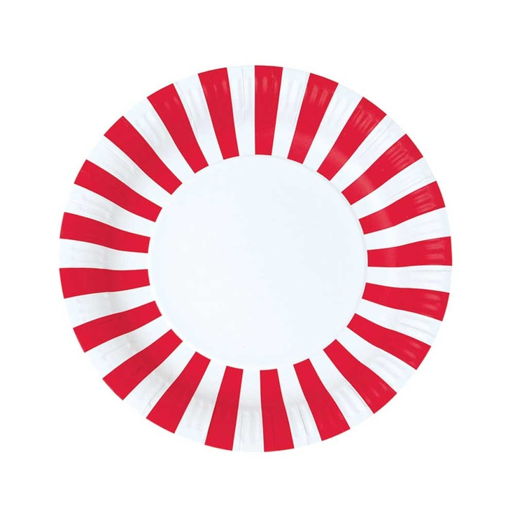 Candy Cane Party Plates (Set of 12)