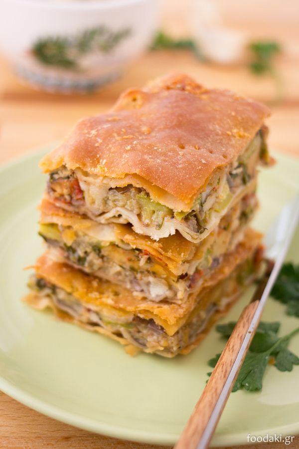 Πίτα μπριάμ με τυρί – Summer vegetable pie with cheese