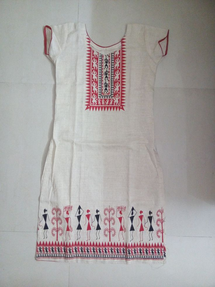 Cotton top with embroidery design