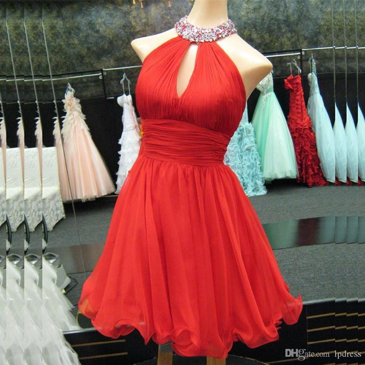 free shipping, $78.35/piece:buy wholesale  sexy red cocktail dresses shining sequins along the neckline short chiffon short party dresses cheap new arrival red party dresses 2016 spring summer,real photos,chiffon on lpdress's Store from DHgate.com, get worldwide delivery and buyer protection service.