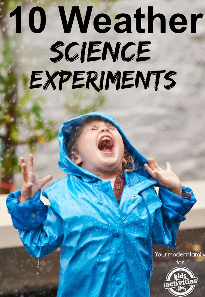 Weather science experiments are always a fun way to teach our kids a great lesson!