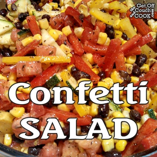 Confetti Salad - Hang on to the last bits of summer with a make-ahead salad that incorporates lots of sunny colors and bright flavors!