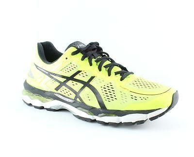 Asics Gel-Kayano 22 Flash Yellow/Black/Silver Shoes Mens size 9.5 M