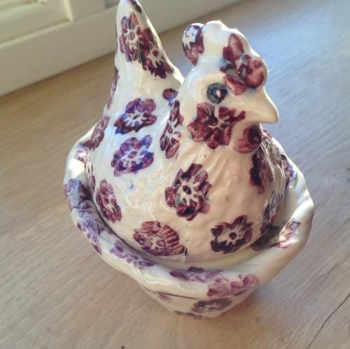 Emma Bridgewater Purple Flowers egg coddler
