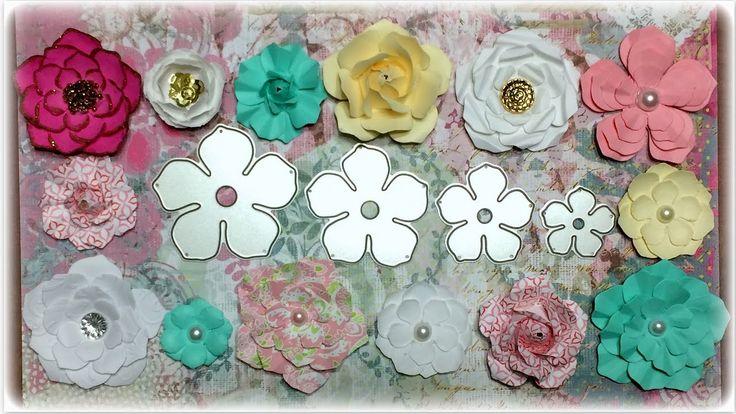 Paper Flowers Tutorial using Aliexpress dies
