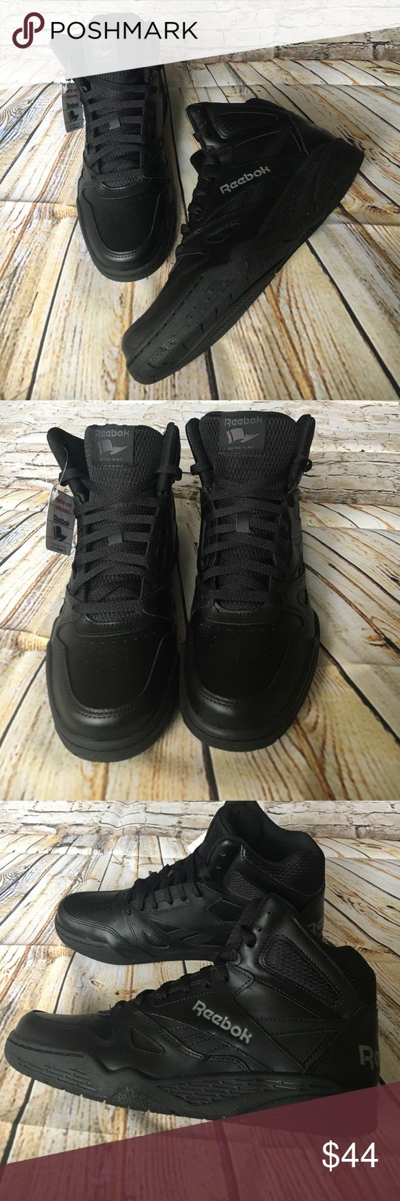 Reebok Royal Flag Classic Black Size 9 Get the perfect Father's Day gift for that special man! These are the Classic Royal flag high top Reebok Royal Foam Lite with Ortholite. New in box. Reebok Shoes Sneakers