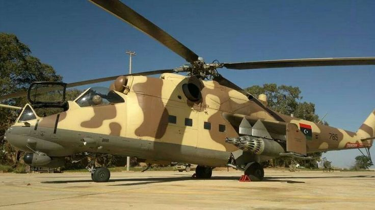 The U.N. experts claim the UAE delivered this Mi-24P to the Lybian National Army. United Nations Shines Light on Shadowy Libyan Air War | War Is Boring