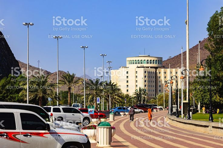 Khor Fakkan, UAE: Streetside View, Hotel Oceanic on the Beach royalty-free stock photo
