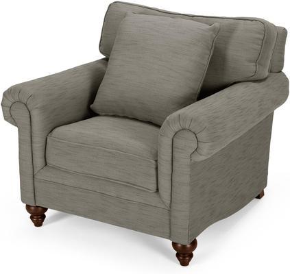 Hawkins Armchair, Grebe Grey from made.com